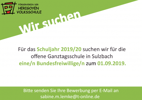Bundesfreiwilligendienst 2019/20