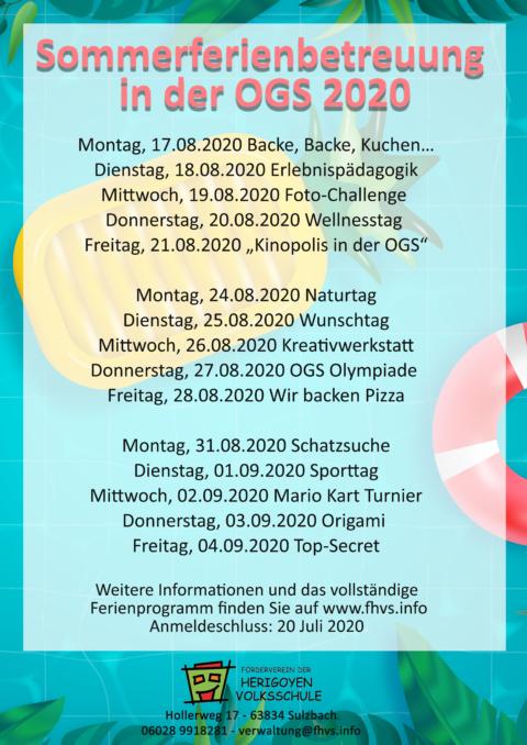 Sommerferienprogramm 2020